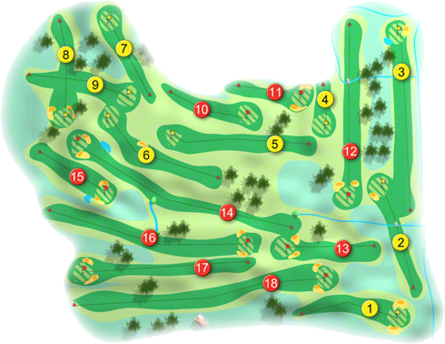 Moate Golf Course Layout