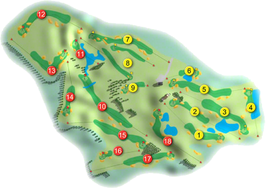 Mount Wolseley Golf Course Layout