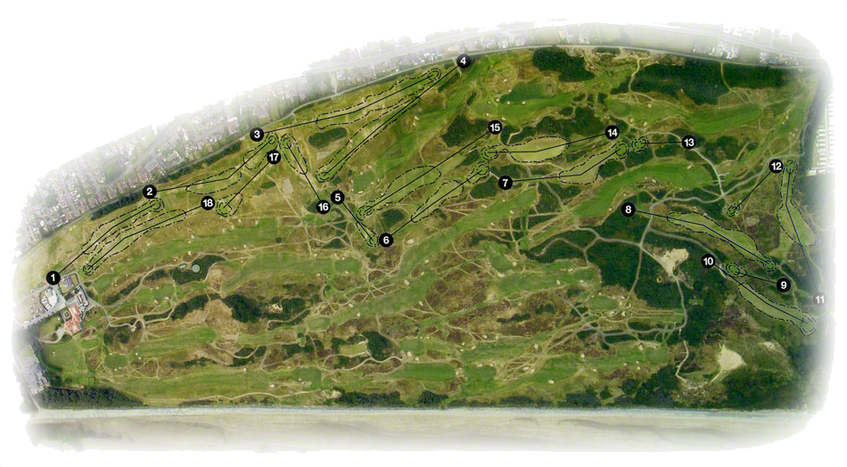 Mourne Golf Course Layout