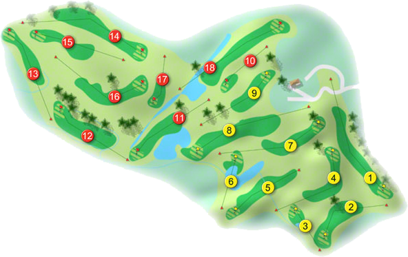 Newcastle West Golf Course Layout