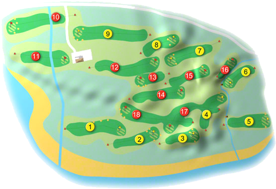 North West Golf Course Layout