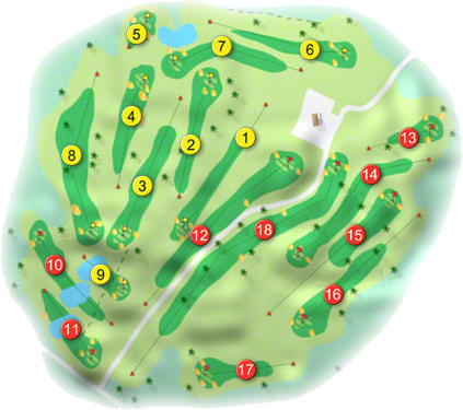 Oughterard Golf Course Layout