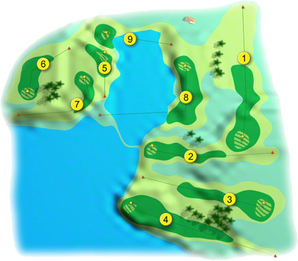 Raffeen Creek Golf Course Layout