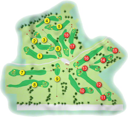 Rathbane Golf Course Layout
