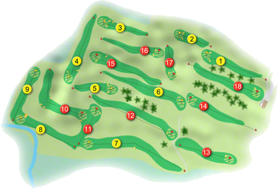 Rathdowney Golf Course Layout
