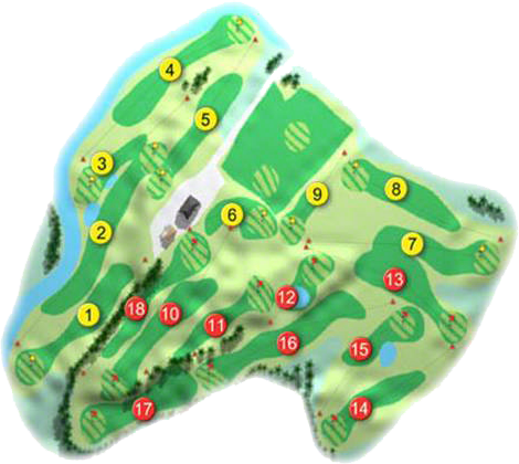 Roe Park Resort Golf Course Layout