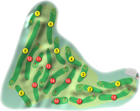 Rosapenna Golf Course Layout