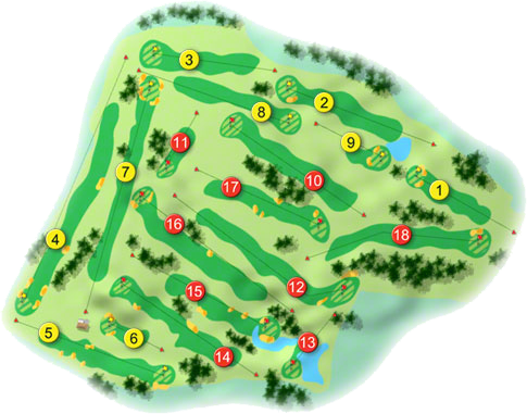 Roscommon Golf Course Layout