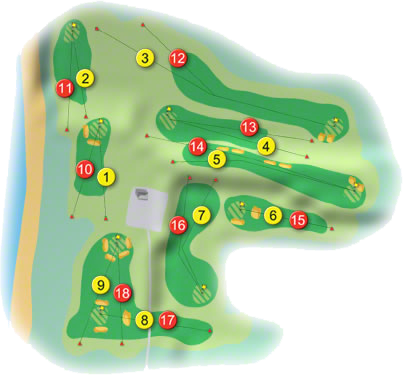 Rush Golf Course Layout