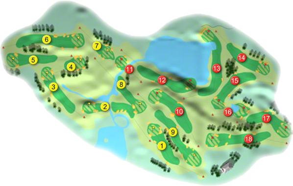 Slieve Russell Golf Course Layout