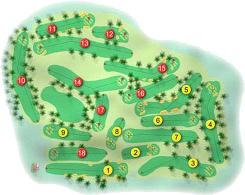 Spa Golf Course Layout