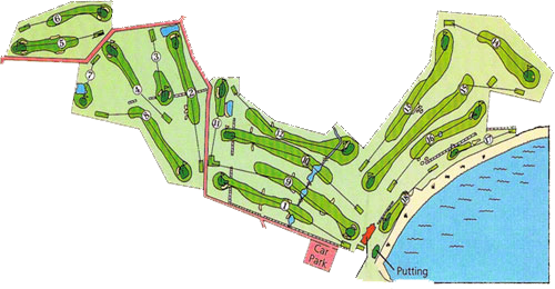 St Helen's Bay Golf Course Layout