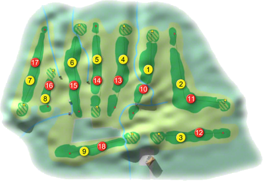 Stepaside Golf Course Layout