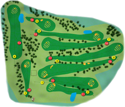 Temple Golf Course Layout