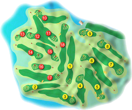 The Island Golf Course Layout