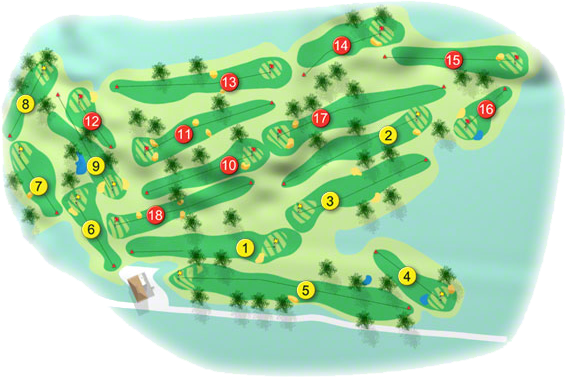 Tuam Golf Course Layout
