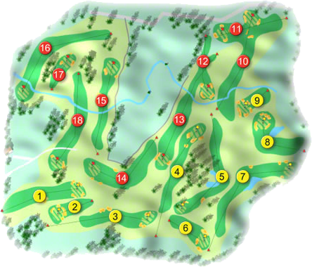 Tullamore Golf Course Layout