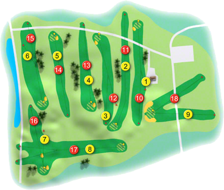 Virginia Golf Course Layout