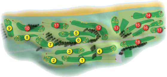 Woodbrook Golf Course Layout