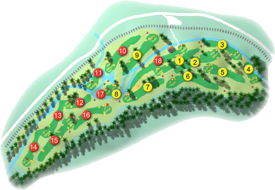 Woodenbridge Golf Course Layout